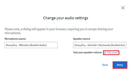 audio settings online