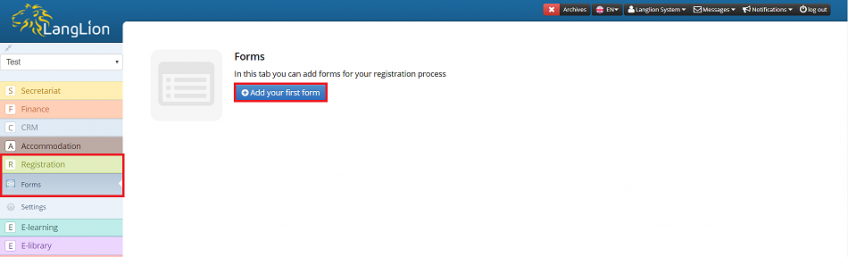 add registration form
