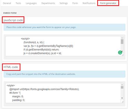 Support LangLion | Registration forms generator