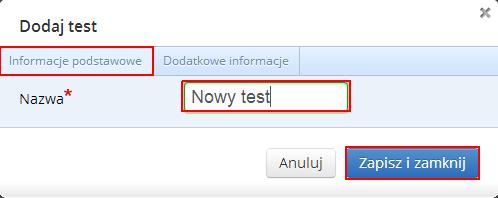 dodaj test