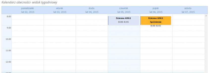 kalendarz ze statusami