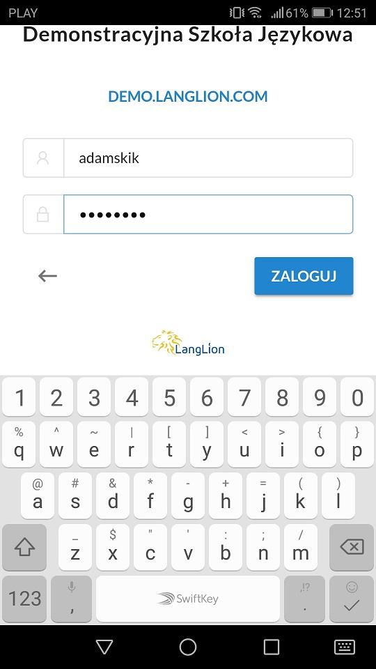 logowanie aplikacja 2