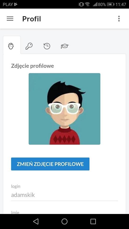 profil aplikacja