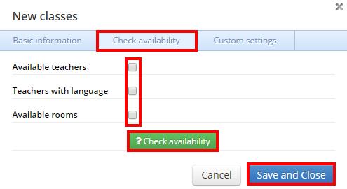 chceck availability