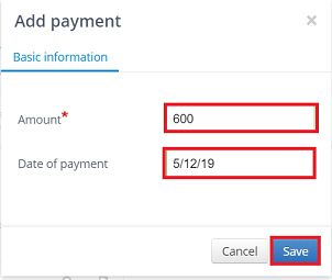 add payment to transaction