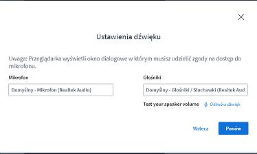 nowe online ustawienia audio